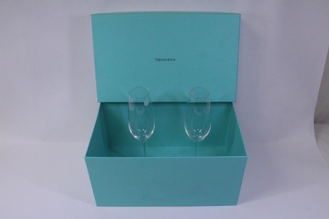 2 crystal wine goblets by Tiffany & co.