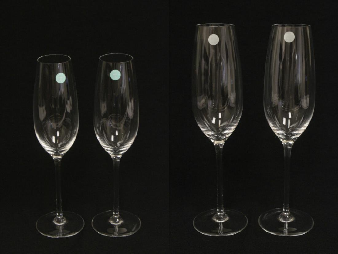 2 crystal wine goblets by Tiffany & co. - 2