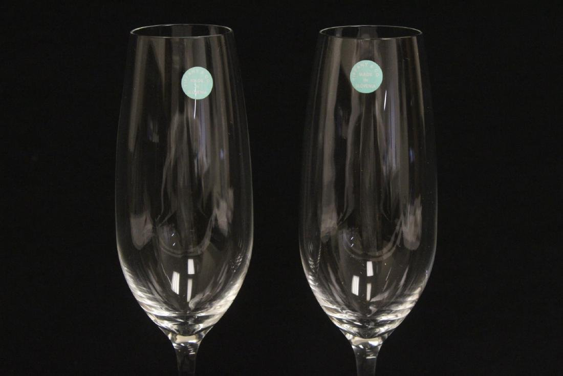 2 crystal wine goblets by Tiffany & co. - 3