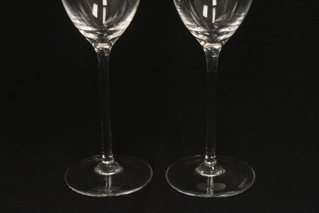 2 crystal wine goblets by Tiffany & co. - 4