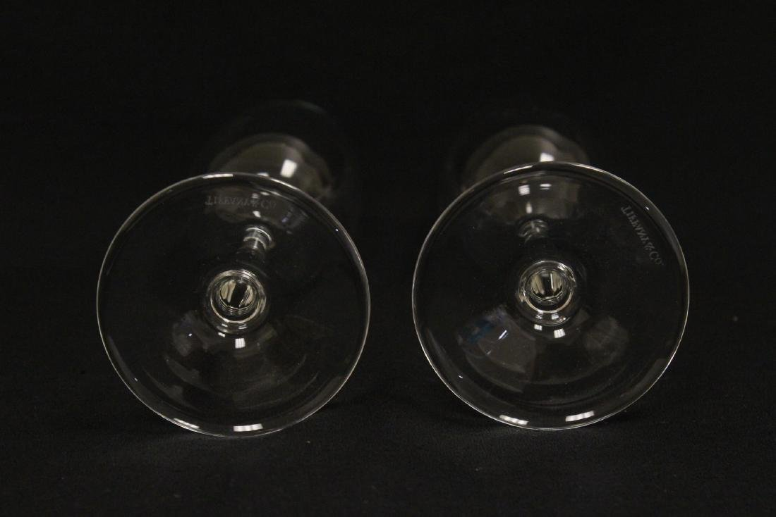 2 crystal wine goblets by Tiffany & co. - 6