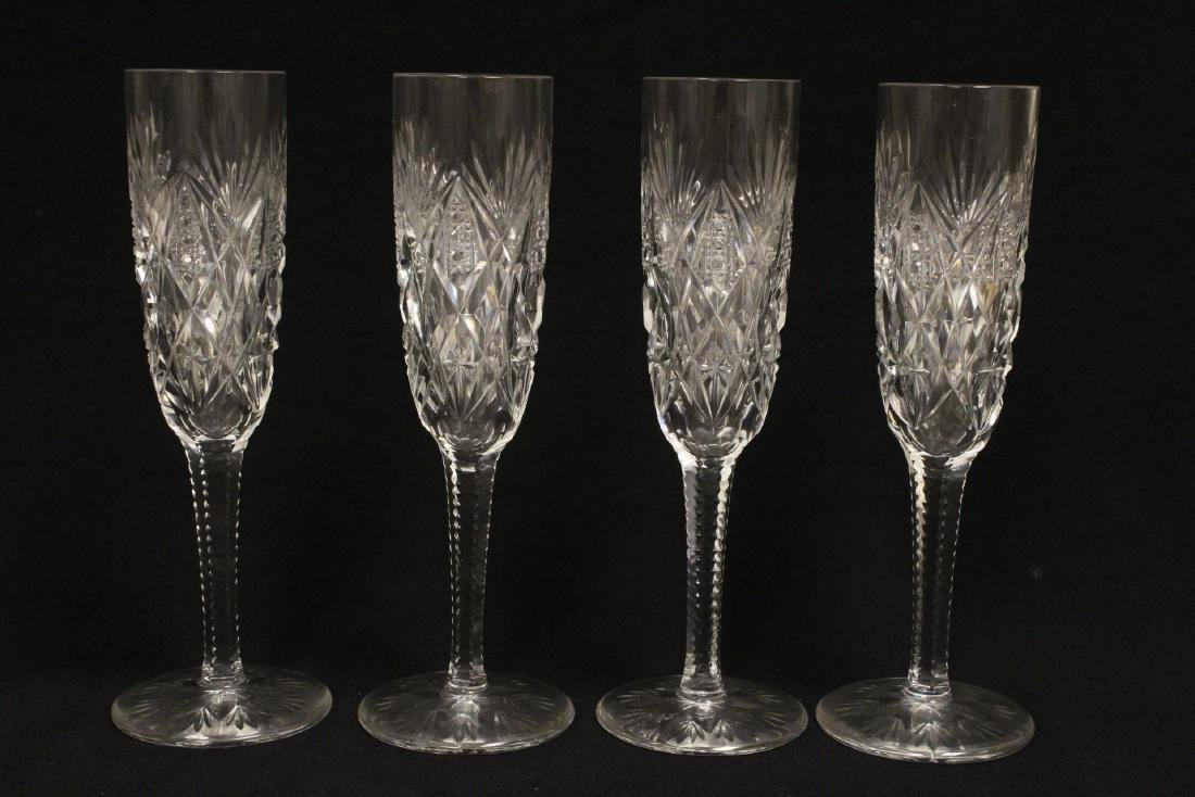 12 champagne crystal goblets by St. Louis - 3