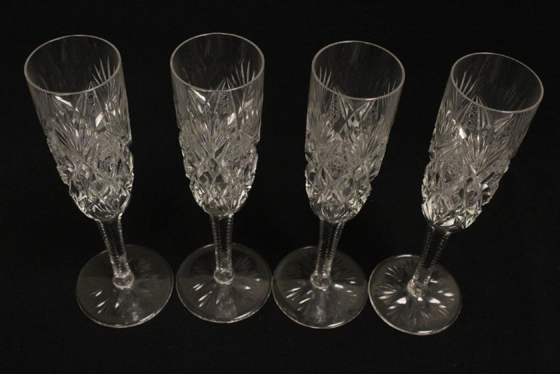 12 champagne crystal goblets by St. Louis - 8