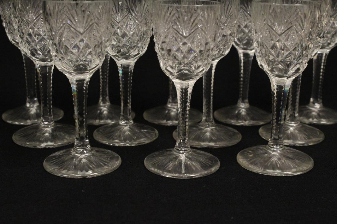 12 cordial crystal goblets by St. Louis - 3