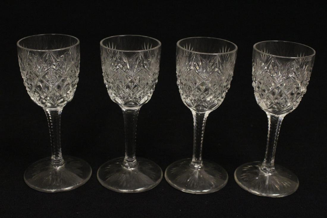 12 cordial crystal goblets by St. Louis - 5