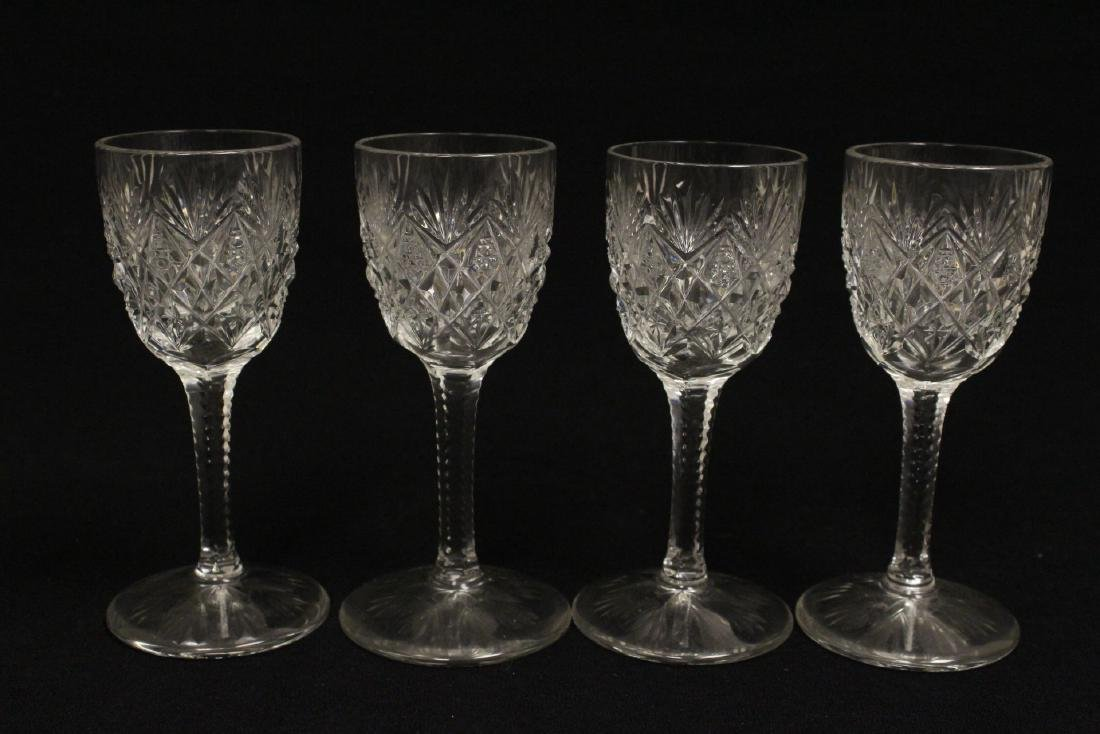 12 cordial crystal goblets by St. Louis - 6