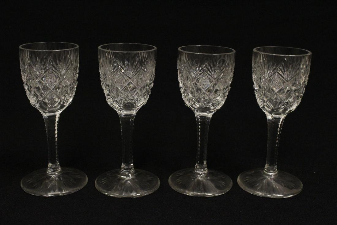 12 cordial crystal goblets by St. Louis - 8