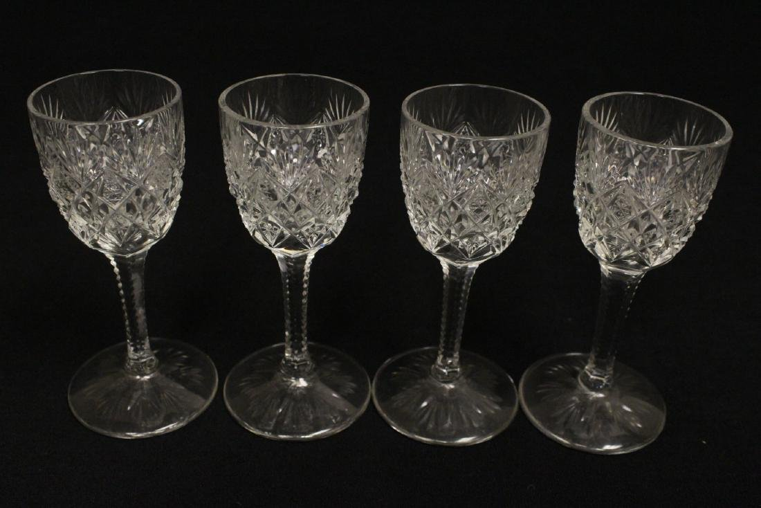 12 cordial crystal goblets by St. Louis - 9