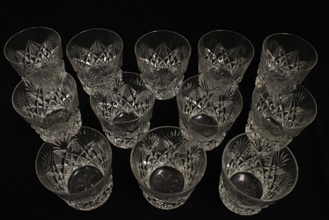 12 old fashion whisky tumblers by St Louis