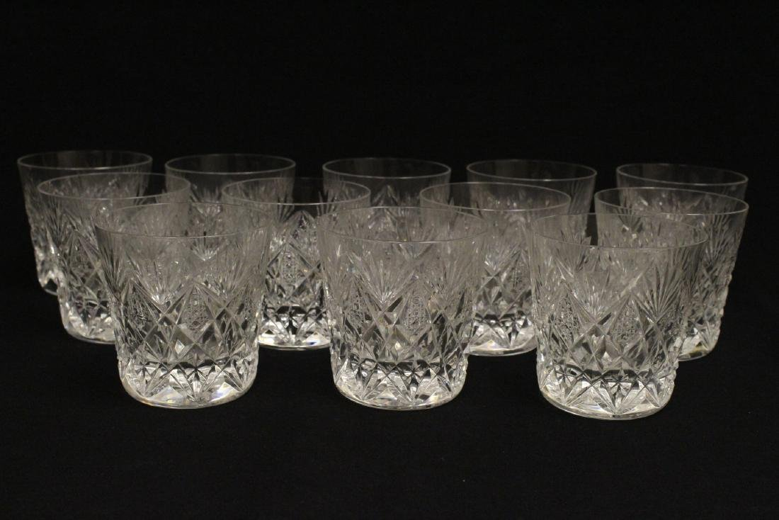 12 old fashion whisky tumblers by St Louis - 2
