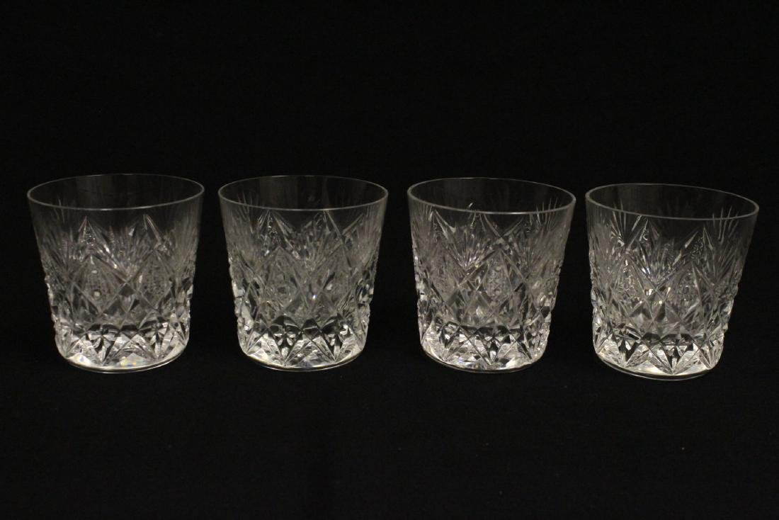 12 old fashion whisky tumblers by St Louis - 7