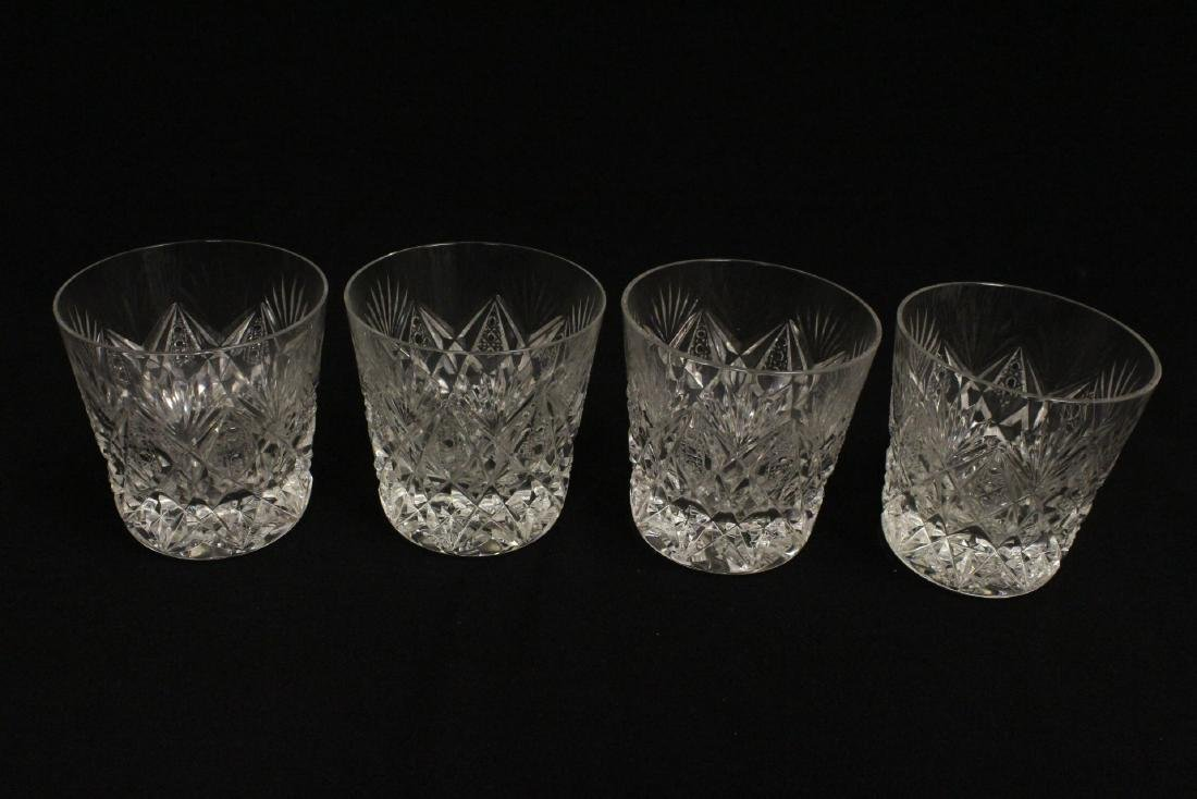 12 old fashion whisky tumblers by St Louis - 8