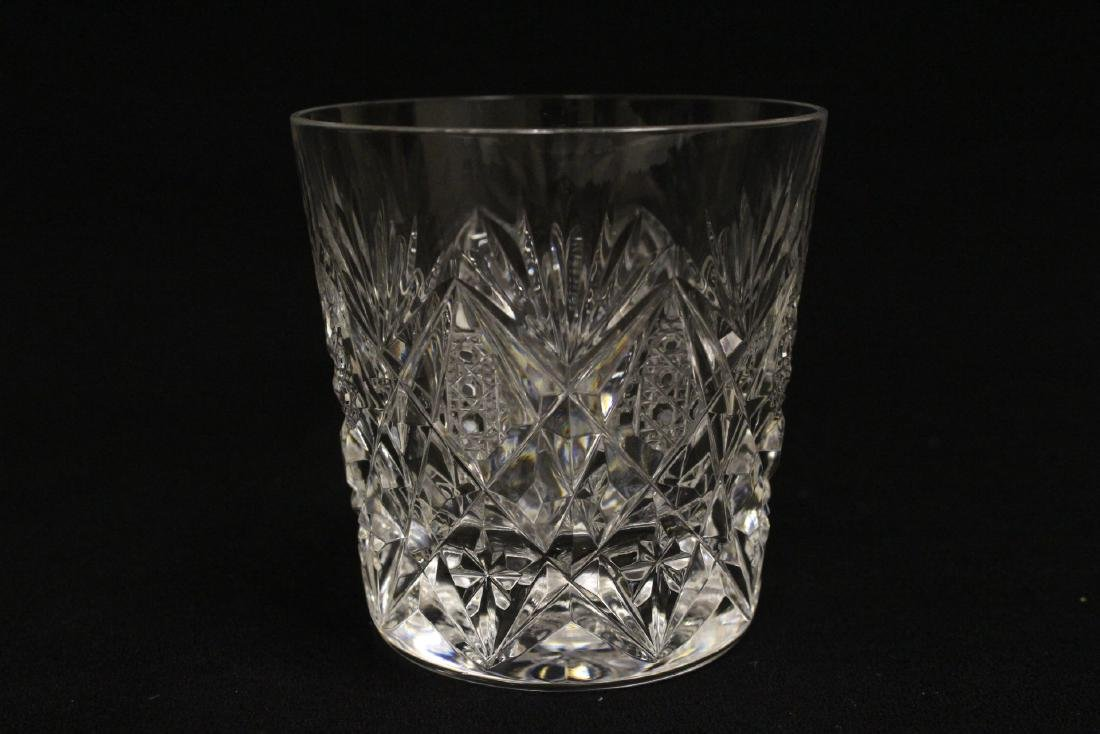 12 old fashion whisky tumblers by St Louis - 9
