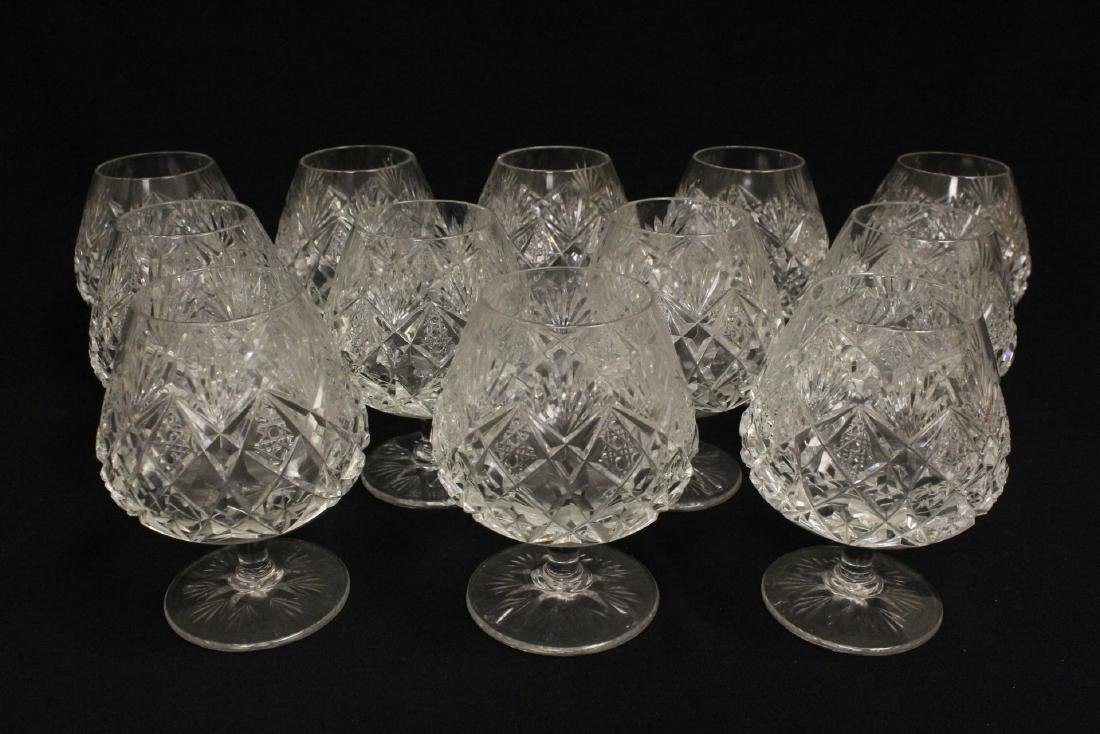 12 crystal brandy sniffers by St Louis - 2