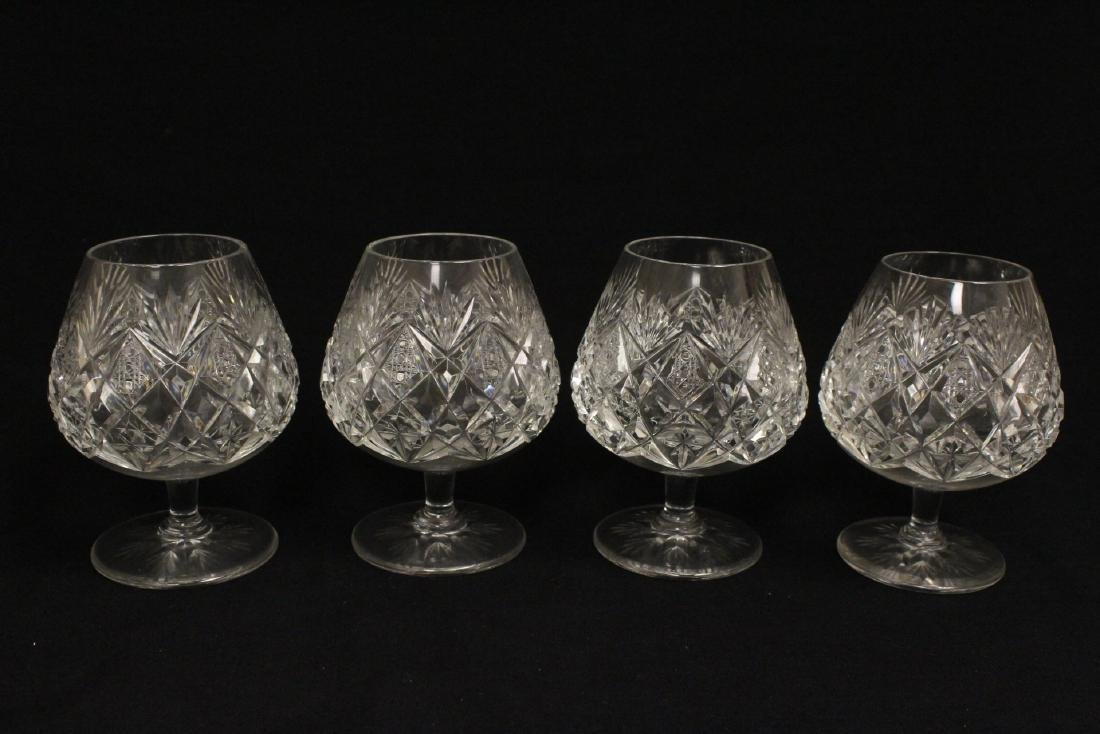 12 crystal brandy sniffers by St Louis - 3