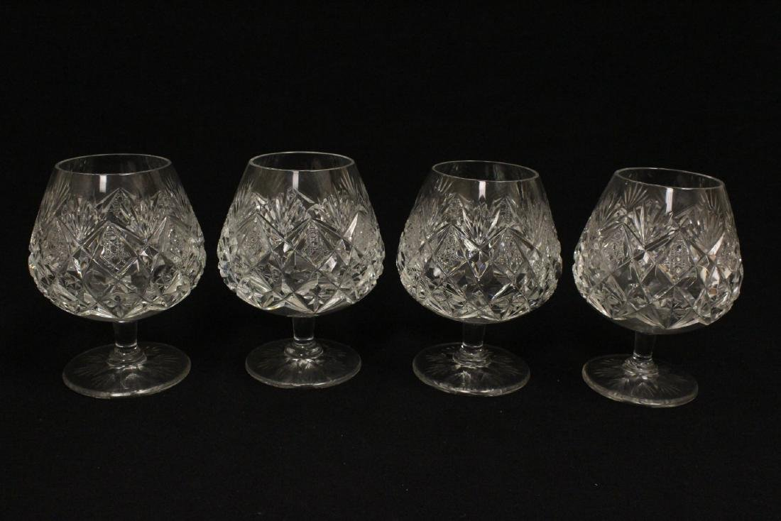 12 crystal brandy sniffers by St Louis - 7