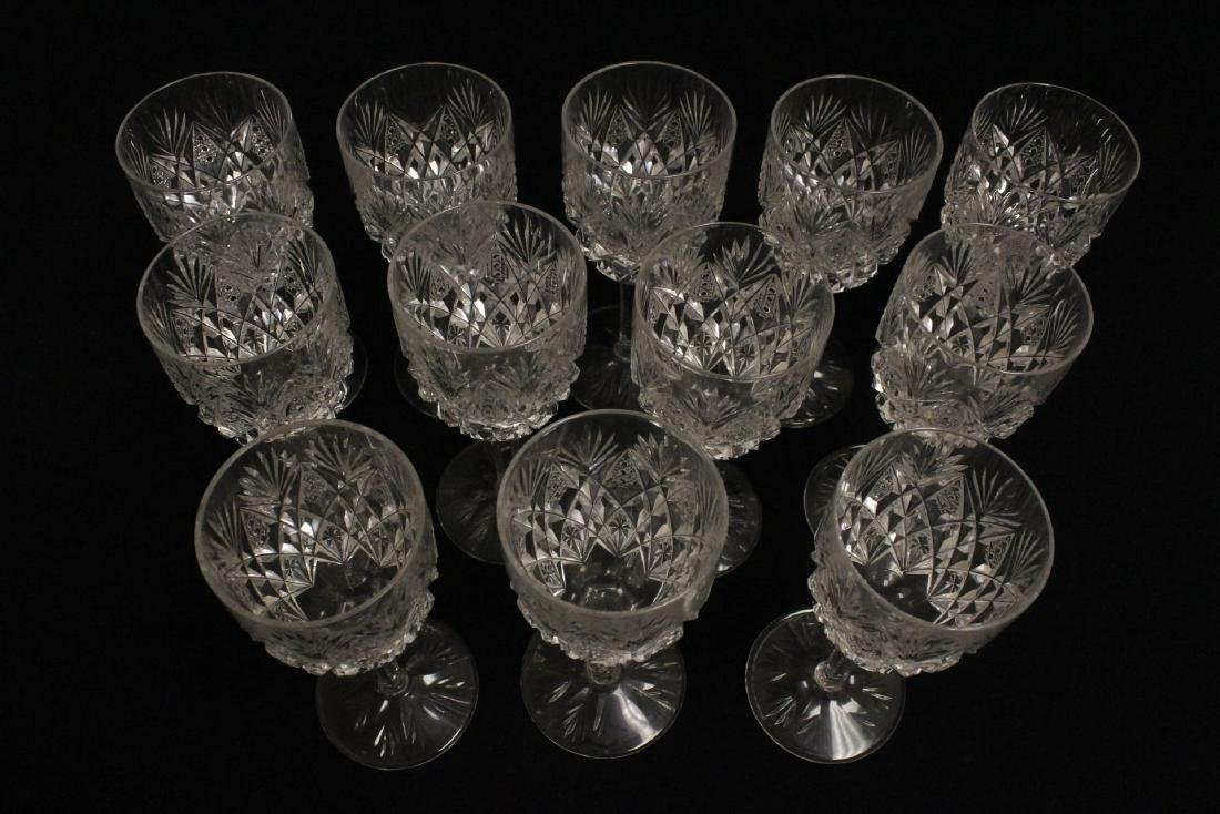 12 crystal red wine goblets by St Louis