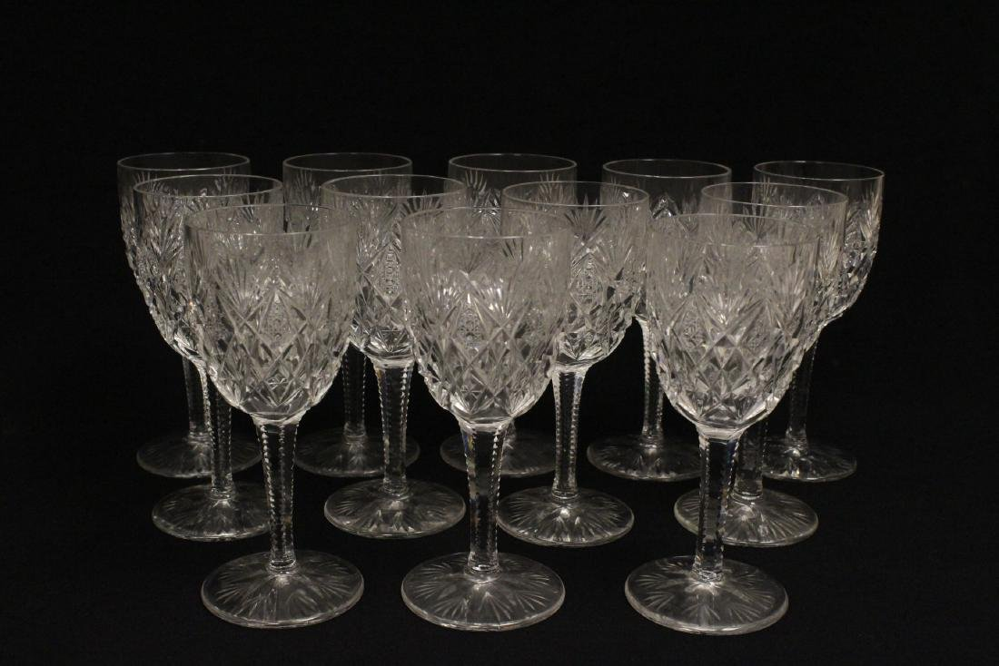 12 crystal red wine goblets by St Louis - 2