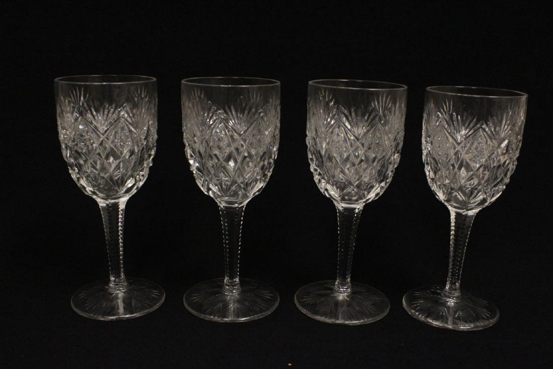 12 crystal red wine goblets by St Louis - 3