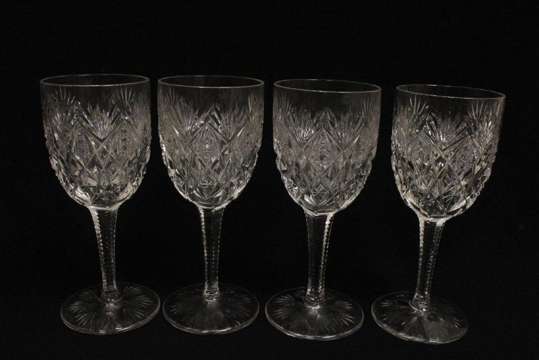 12 crystal red wine goblets by St Louis - 5