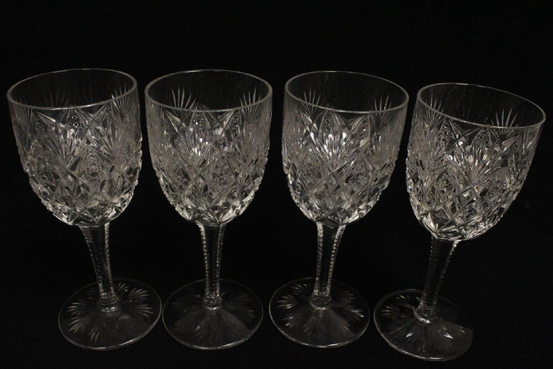 12 crystal red wine goblets by St Louis - 6