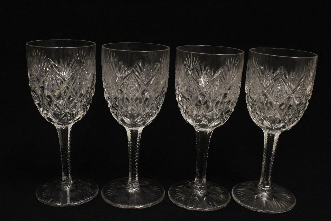 12 crystal red wine goblets by St Louis - 7