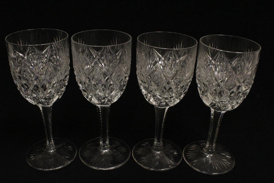 12 crystal red wine goblets by St Louis - 8