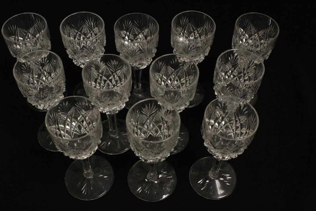 12 Claret crystal wine goblets by St Louis