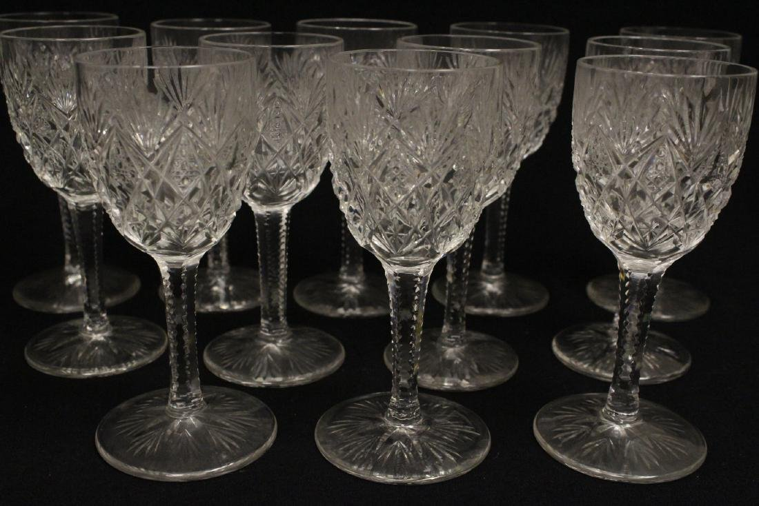 12 Claret crystal wine goblets by St Louis - 2