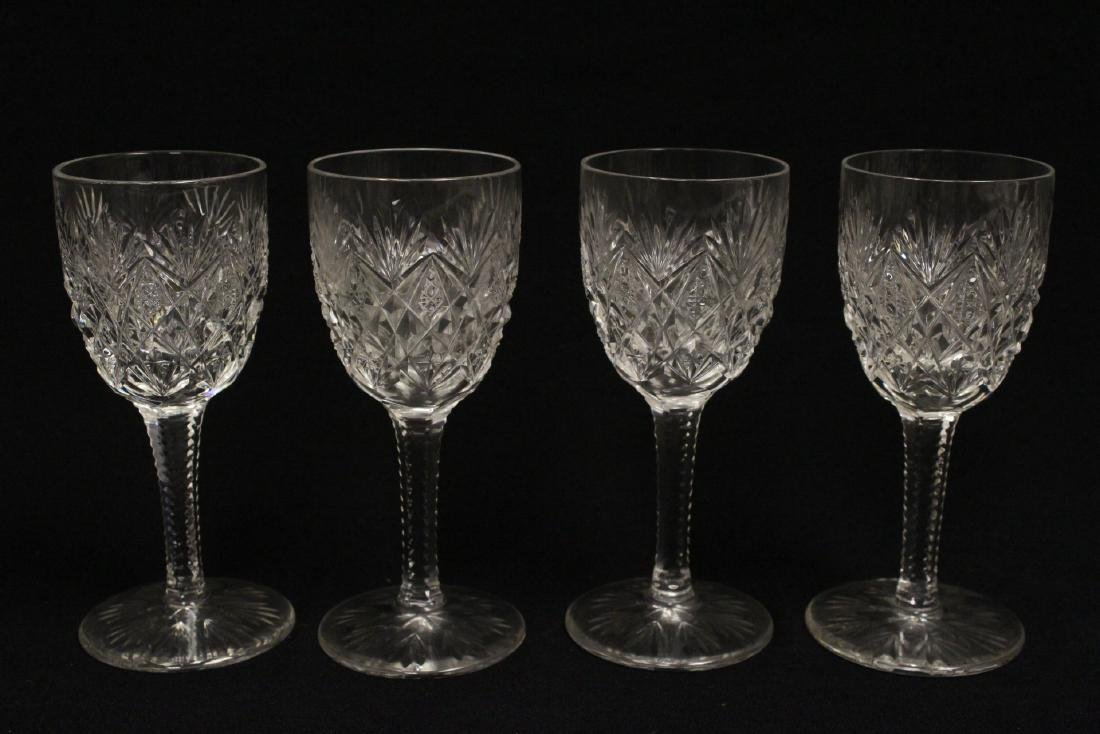 12 Claret crystal wine goblets by St Louis - 3