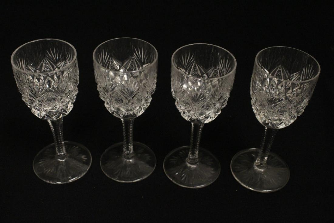 12 Claret crystal wine goblets by St Louis - 4