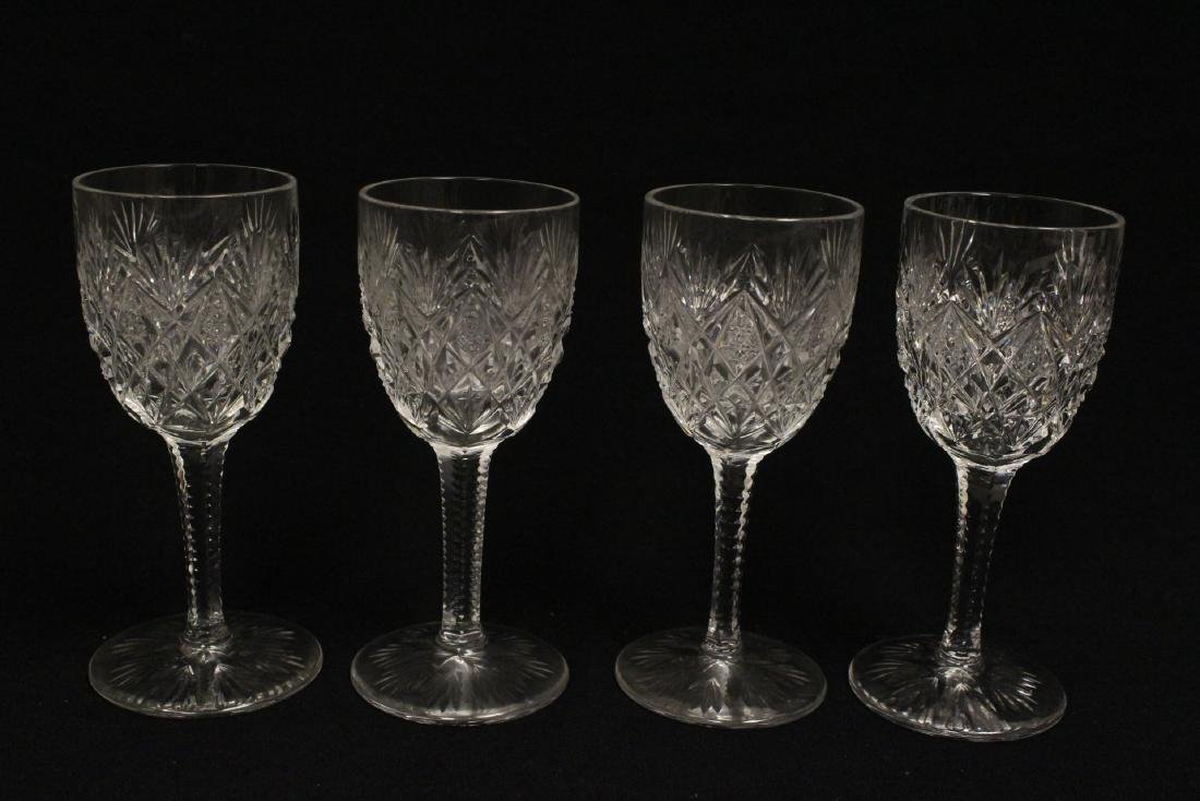 12 Claret crystal wine goblets by St Louis - 5