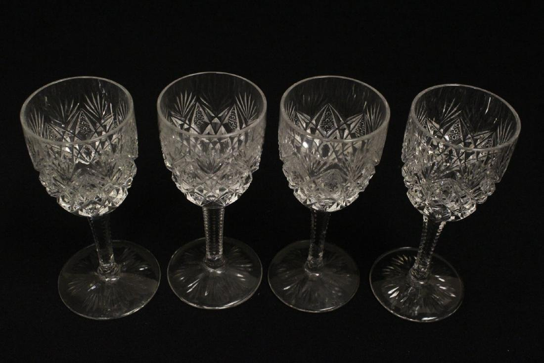 12 Claret crystal wine goblets by St Louis - 6