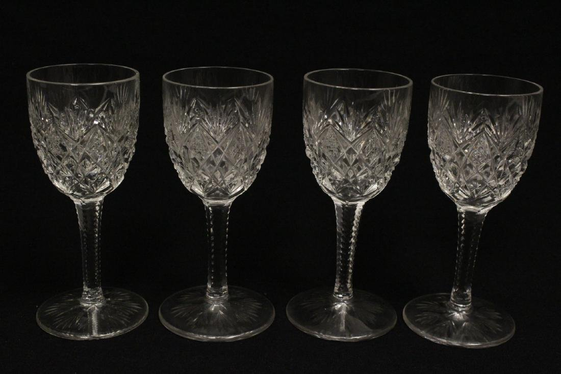 12 Claret crystal wine goblets by St Louis - 7