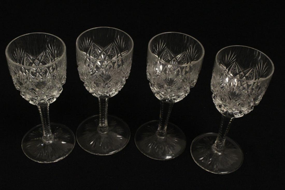 12 Claret crystal wine goblets by St Louis - 8