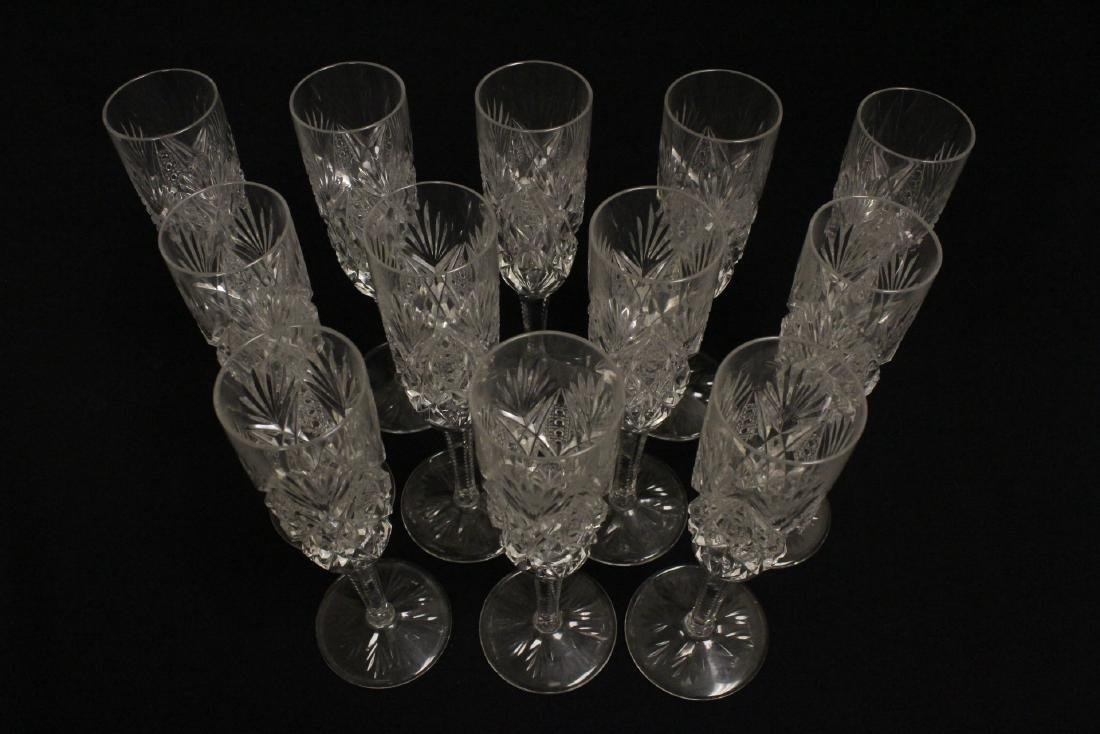 12 champagne crystal goblets by St. Louis