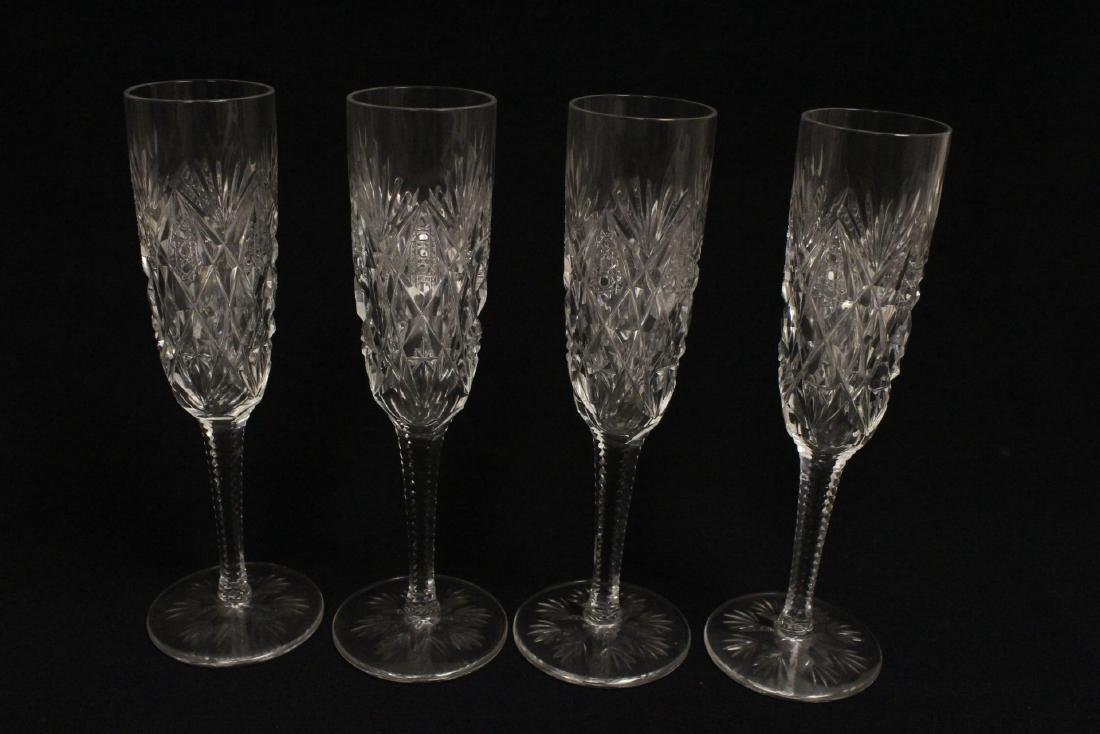 12 champagne crystal goblets by St. Louis - 4