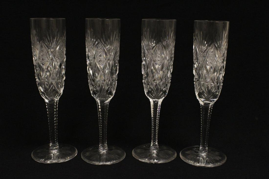 12 champagne crystal goblets by St. Louis - 5