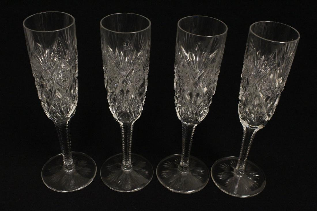 12 champagne crystal goblets by St. Louis - 6