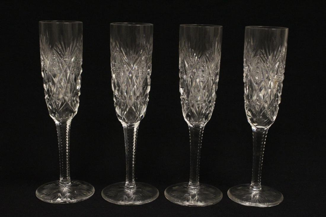 12 champagne crystal goblets by St. Louis - 7