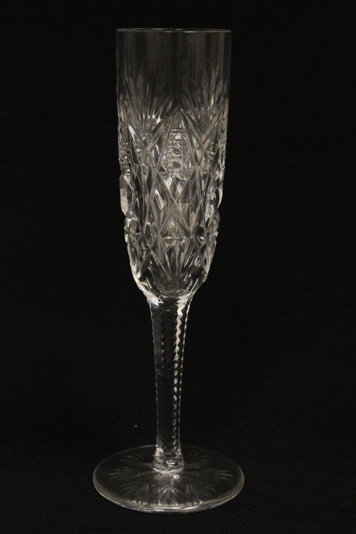 12 champagne crystal goblets by St. Louis - 9