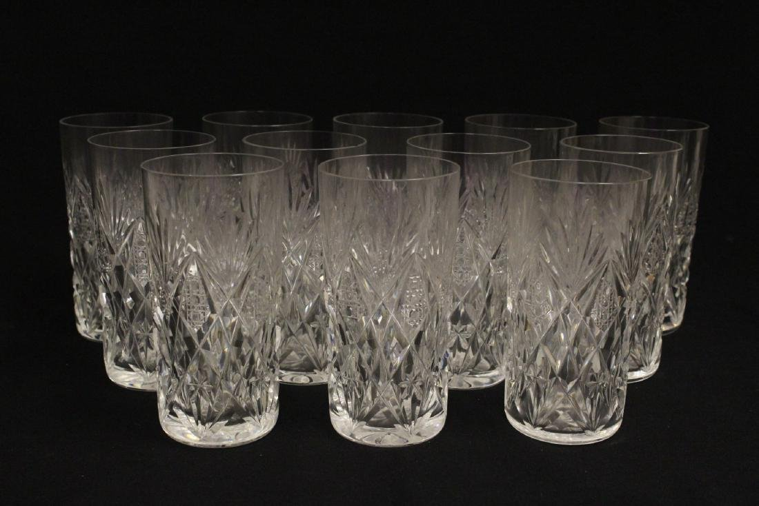 12 highball tumblers by St. Louis - 2
