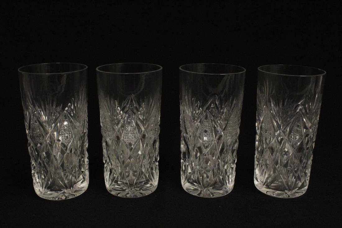 12 highball tumblers by St. Louis - 5