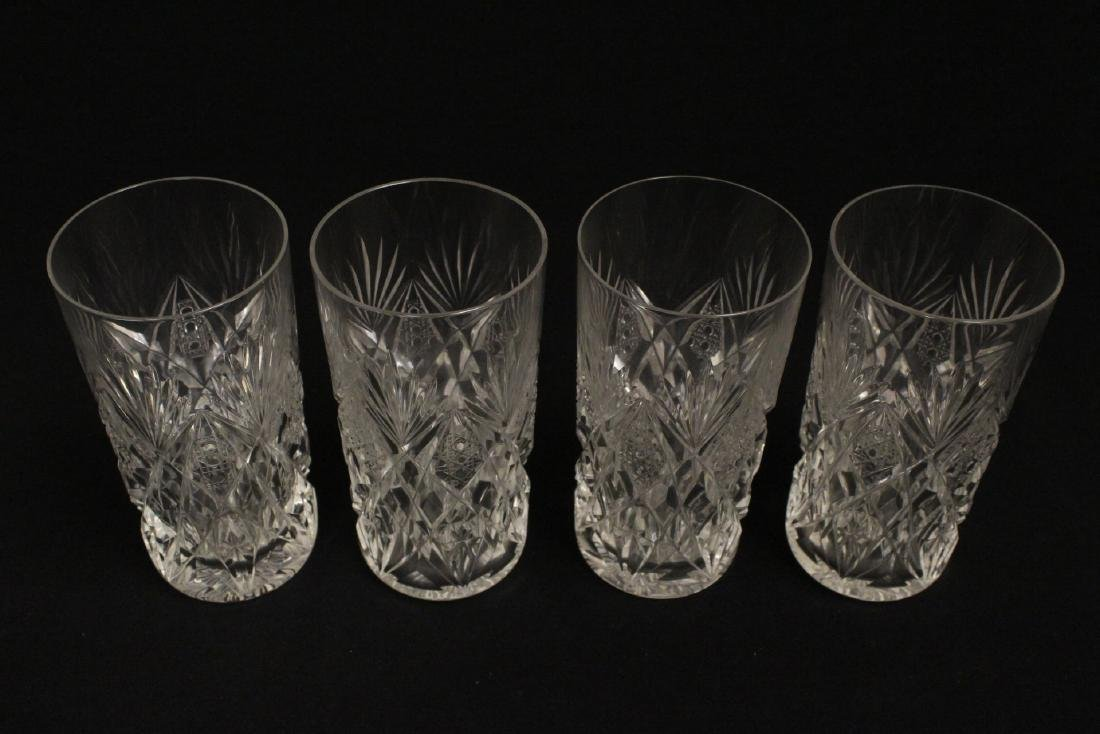12 highball tumblers by St. Louis - 8