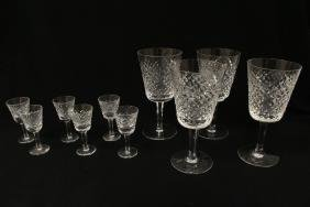 10 Waterford crystal goblets