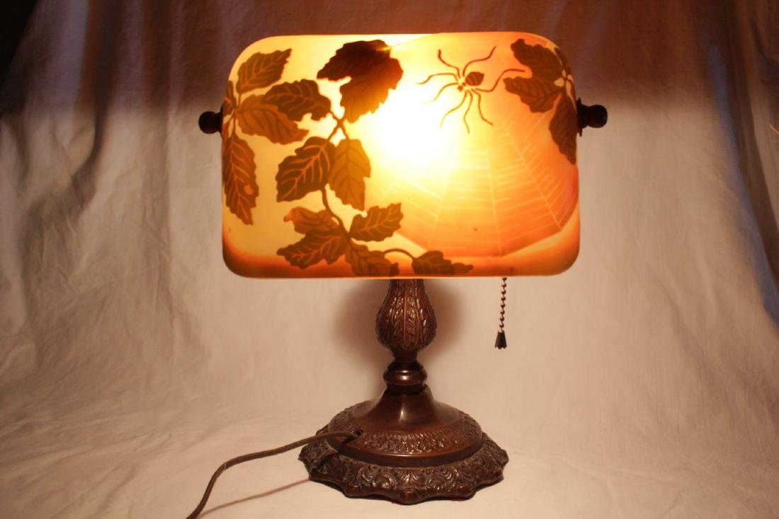 Early 20th c. lamp with shade signed Galle - 10