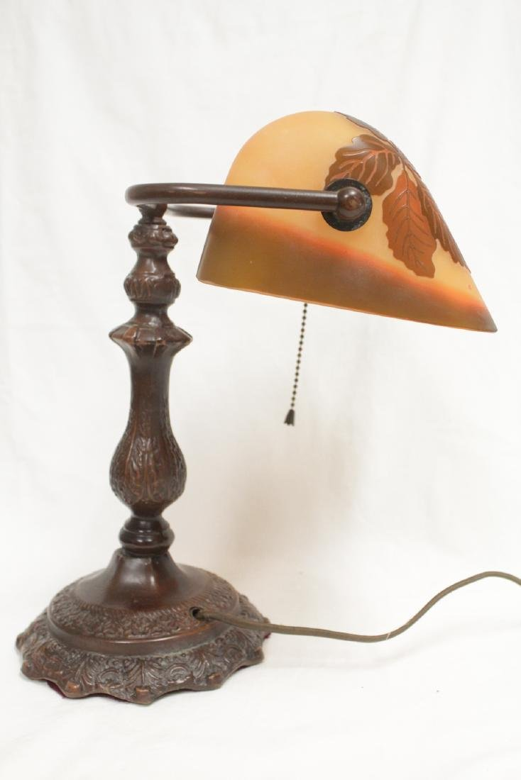 Early 20th c. lamp with shade signed Galle - 4