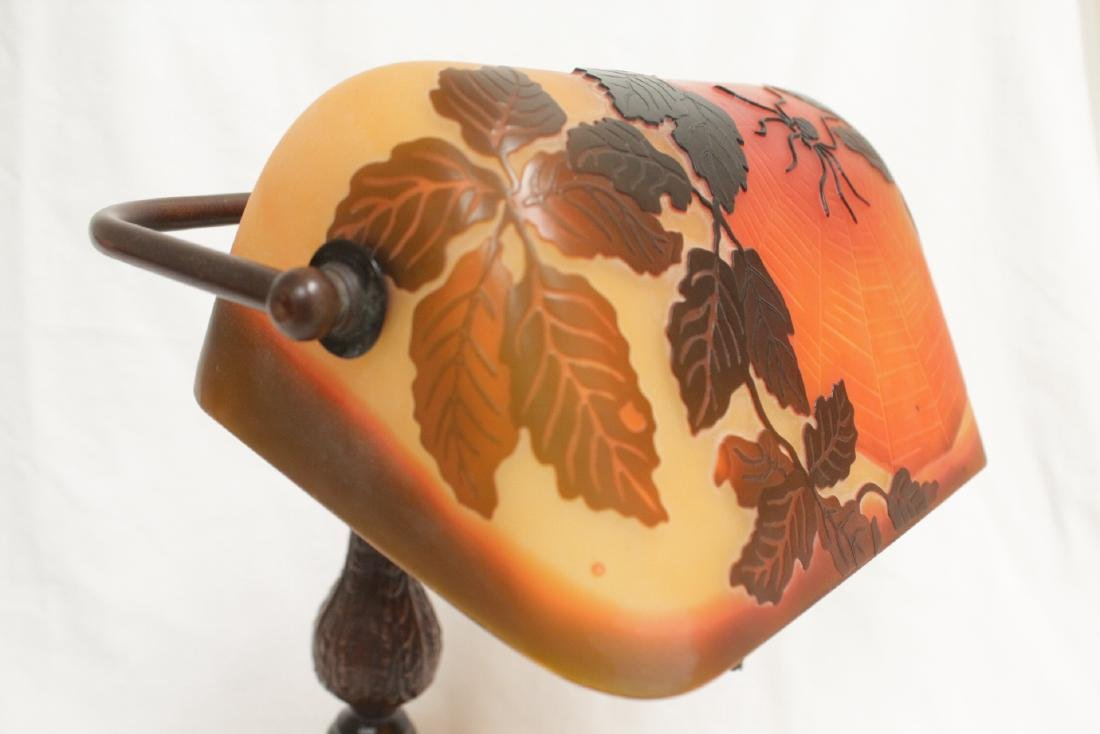 Early 20th c. lamp with shade signed Galle - 6