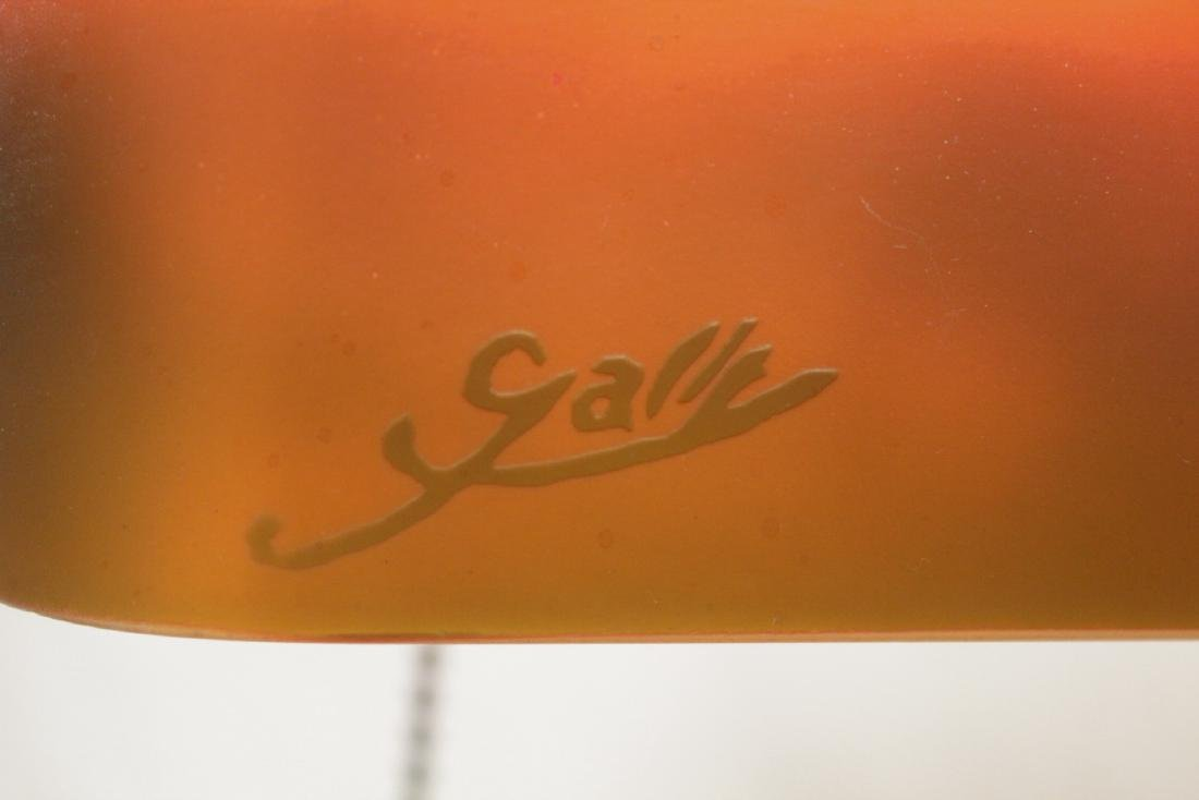 Early 20th c. lamp with shade signed Galle - 8