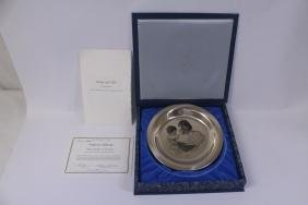 Solid sterling plate, designed by Irene Spencer